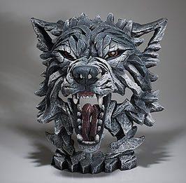 Wolf Bust - Grey
