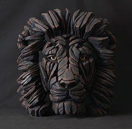 Lion Bust - Black