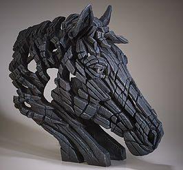 Horse Bust - Black
