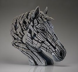 Horse Bust - White